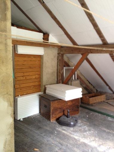 Dachgeschoss vor dem Ausbau