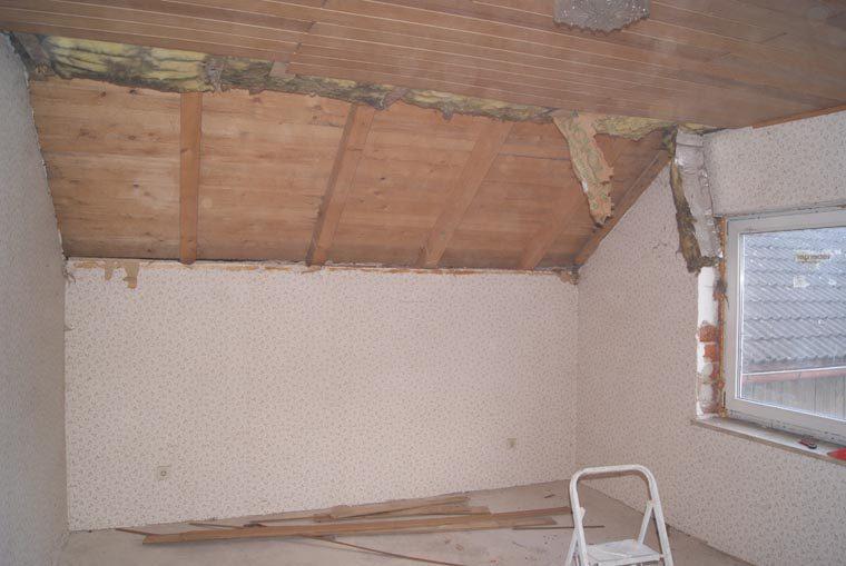 Baustellenbild vor der Renovierung